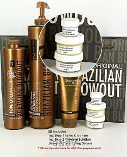 Solution Blowout Brésilienne Originale Kératine Traitement Kit -sameday Expédition 1 Oz