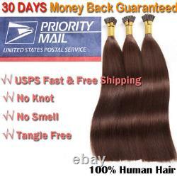 Stick I Tip Glue Kératine Pré-collée 100% Remy Human Hair Extensions Clearance LC