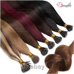Thick Nano Ring Tip Keratin Micro Perles Lien Extensions De Cheveux Remy Humains 1g/s Cc7