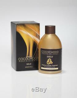 Traitement À La Kératine Brésilienne Cocochoco Gold, Kit De Lissage Pour Défrisage Des Cheveux