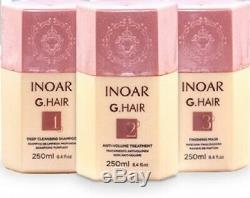 Traitement À La Kératine Brésilienne Inoar G-hair Séchage Des Cheveux, Lissage, Kit Complet