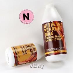 Traitement Brésilien Cheveux Kératine Formaline 5% 1000ml Purifiant Shampooing Cheveux 500ml