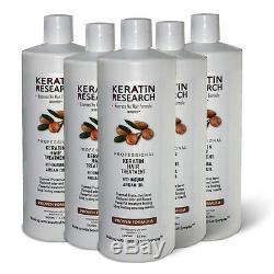 Traitement Brésilien Pour Cheveux Complexes À La Kératine 5000 ML À L'huile D'argan