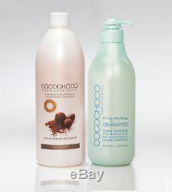 Traitement Capillaire À La Kératine Brésilienne Cocochoco + Shampooing Nettoyant En Profondeur