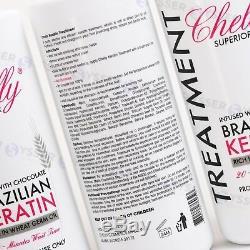 Traitement Cheveux Bresilien Straightenin Kératine Chocolat 32 Oz 946 ML Made In USA