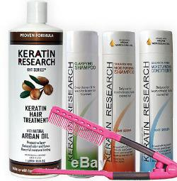 Traitement De Complexe De Cheveux De Kératine Brésilienne Kit De Redressement Xlarge Free Easy Peigne