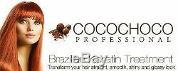 Traitement De Kératine Brésilienne Par Cocochoco Séchage Des Cheveux, Lissage 1 Litre + Peigne
