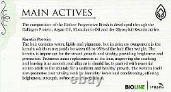 Traitement De Kératine De Lissage Des Cheveux De L'épiderme Brésilien Bioline Avec Collagen