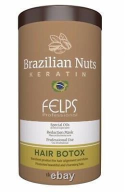 Traitement Des Cheveux Botox Masque Capillaire Brésilien Restauration Hydratation Profonde 1kg Felps