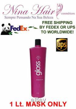 Traitement Lustré Brésilien À La Kératine Fox Gloss Hair 1 Lt. Mask Only. Livraison Gratuite Ups