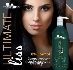 Ultimate Liss Formoldehyde Traitement Brésilien Gratuit De Kératine 1l- Hanna Lee Sorali