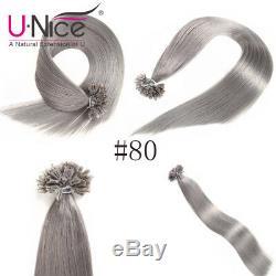 Unice 8a 100s Kératine Nail U Astuce Extensions De Cheveux Humains Remy Brésilien Cheveux Humains