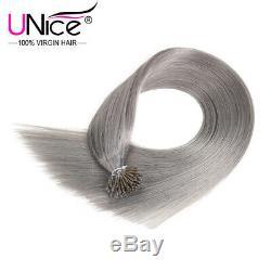 Unice Brésil 100s Pré I-kératine Bonded Pointe Les Prolongements Cheveux Raides # 80