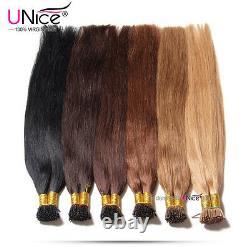 Unice Brésilien 100s Keratin Stick I-tip Straight Human Hair Extensions 1g/s Us