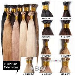 Us Stock Kératine Bâton I-tip Cheveux Raides 100% Extensions De Cheveux Humains Remy 100s