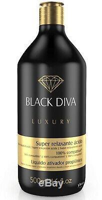 Ybera Noir Diva Brésilien Kératine Lisseur 2 X 500 ML / 16 Oz Lissage
