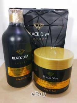 Ybera Noir Diva Brésilien Kératine Relaxation Acide Redressage Masque Traitement